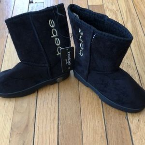NWT Bebe girls size 12 black boots